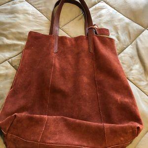 Handbags - Genuine Sued purse. Maroon